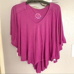 Blue Life purple loose fit drape top size XS